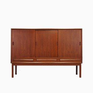 Mueble danés Mid-Century de teca y chapa, años 60