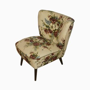 Mid-Century Floral Lounge Chair, 1950s