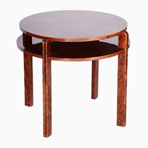 Art Deco Lacquer and Walnut Coffee Table, 1930s