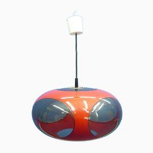 Lámpara de techo UFO alemana de plástico de Luigi Colani, años 70