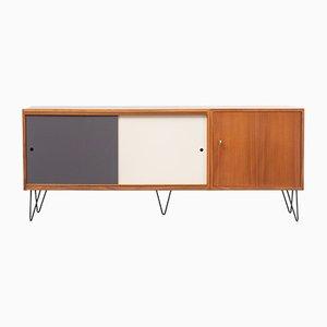 Sideboard aus Metall, Resopal & Nussholz, 1960er