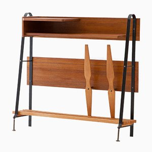 Consola italiana de latón, hierro y madera, años 50