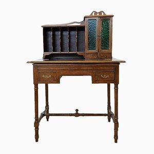 Escritorio antiguo de madera de haya maciza