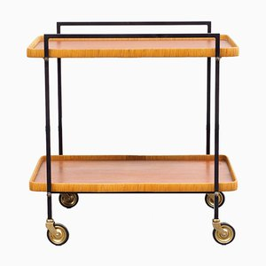 Mid-Century Metal and Teak Trolley, 1960s