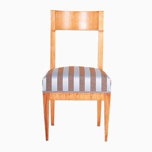Antique Fabric and Elm Dining Chair by Josef Danhauser