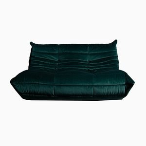 Vintage French Velvet Sofa by Michel Ducaroy for Ligne Roset, 1970s
