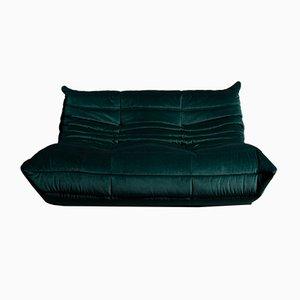 Vintage French Velvet Sofa by Michel Ducaroy for Ligne Roset, 1970s