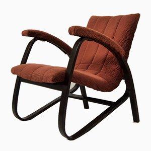 Sessel mit Stoffbezug & Holzgestell von Jan Vanek, 1930er