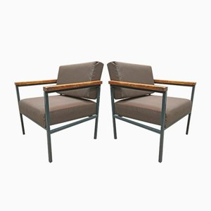 Scandinavian Modern Teak Lounge Chairs, 1950s, Set of 2