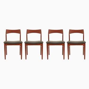 Danish Teak Dining Chairs by Henning Kjærnulf for Vejle Mobelfabrik, 1960s, Set of 4