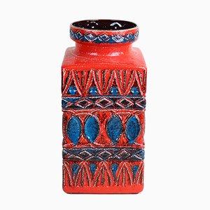 Jarrón alemán de cerámica de Bodo Mans para Bay Keramik, años 60