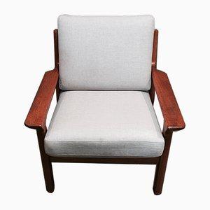 Scandinavian Modern Teak Lounge Chair, 1950s