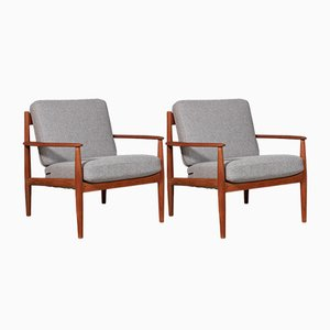 Mid-Century Danish Lounge Chairs by Ole wanscher for France & Søn/France & Daverkosen, 1960s, Set of 2