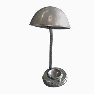 Lámpara de mesa industrial Mid-Century de aluminio, años 60