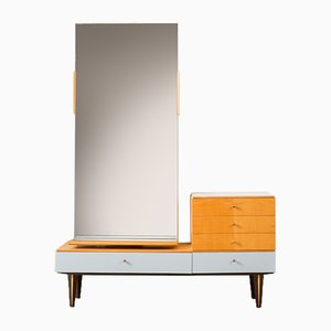 Mid-Century German Birch and Formica Dressing Table, 1960s