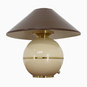 Brass and Plaster Table Lamp from Napako, 1960s