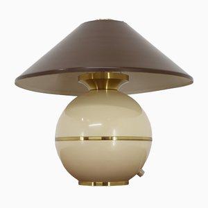 Lámpara de mesa de latón y escayola de Napako, años 60