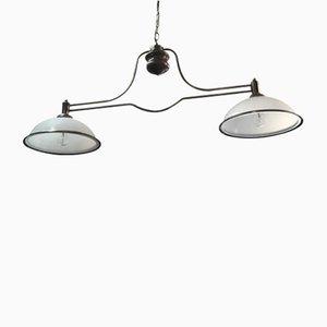Lámpara de billar Mid-Century de hierro, años 60