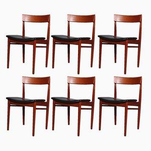 Dänische Vintage Esszimmerstühle von Henry Rosengren Hansen für Brande Møbelindustri, 1960er, 6er Set