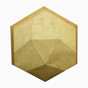 Aplique antropofósico de madera y pergamino, años 50
