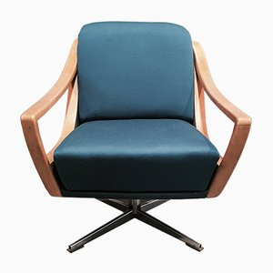 Scandinavian Modern Ash Swivel Chair, 1950s