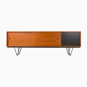 Modernes deutsches Sideboard mit Stahlfüßen & Resopalbeschichtung im skandinavischen Design, 1960er