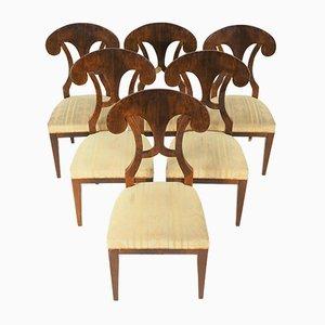 Antike Biedermeier Esszimmerstühle von Josef Danhauser, 6er Set