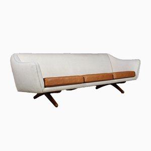 Dänisches Mid-Century Sofa mit Wollbezug & Gestell aus Teak von Illum Wikkelsø für A/S Mikael Laursen, 1960er