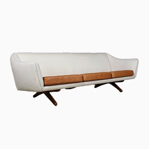 Mid-Century Danish Teak and Wool Sofa by Illum Wikkelsø for A/S Mikael Laursen, 1960s