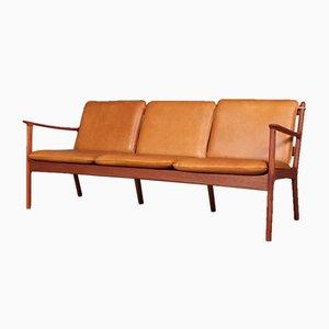 Sofá danés Mid-Century de H.W. Klein para Poul Jeppesens Møbelfabrik, años 60