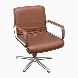 Sedia da scrivania Delta2000 Mid-Century in alluminio e fibra di vetro di Delta Design Group per Wilkhahn, Germania