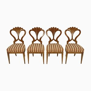 Antique Biedermeier Dining Chairs by Josef Danhauser, Set of 4