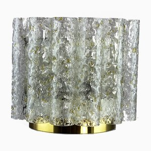 German Glass and Metal Sconce from Doria Leuchten, 1960s