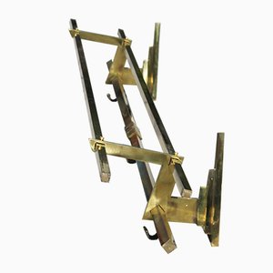 Vintage Art Deco French Brass Rack, 1920s