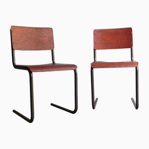 Escritorio estilo Bauhaus, años 50. Juego de 2
