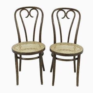 Vintage Esszimmerstühle aus Buche, 1920er, 2er Set
