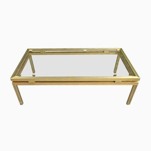 Glass and Metal Coffee Table by Pierre Vandel, 1970s