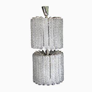 German Glass and Metal Ceiling Lamp from Doria Leuchten, 1960s