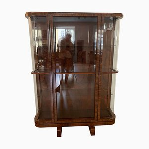 Art Deco Rosewood Veneer Display Case, 1930s