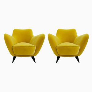 Perla Armchairs by Guglielmo Veronesi for Isa Bergamo, 1950s, Set of 2