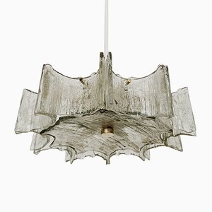 Mid-Century German Metal and Lead Crystal Chandelier from Kaiser Idell / Kaiser Leuchten, 1960s