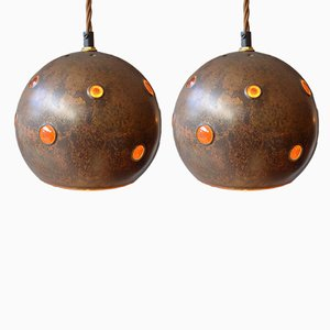 Copper Pendant Lamps by Nanny Still McKinney for Raak, 1960s, Set of 2