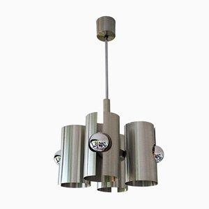 Vintage Modernist Aluminum Ceiling Lamp, 1970s
