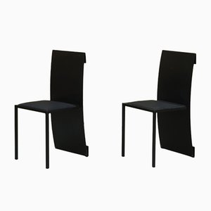 F.Berndt Side Chairs by Jérôme Lemaire for Science Production, 1983, Set of 2