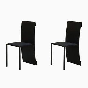 Minimalistische französische F. Berndt Beistellstühle aus Aluminium & Stahl von Jérôme Lemaire für Science Production, 1980er, 2er Set