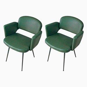 Französische Mid-Century Beistellstühle, 1960er, 2er Set