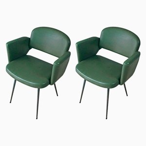 Mid-Century French Side Chairs, 1960s, Set of 2