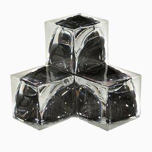 Centrotavola vintage geometrico in cristallo di Daum