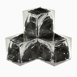 Vintage Geometric Crystal Centerpiece from Daum