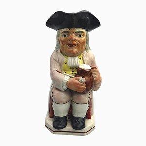 Figurine Antique en Céramique de Staffordshire Pottery